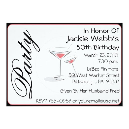 Personalized 50th Birthday Party Invitation