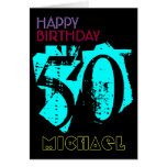 Personalized 50th Birthday POP Greeting Card