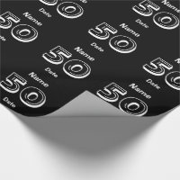 Personalized 50th Birthday Wrapping Paper Custom