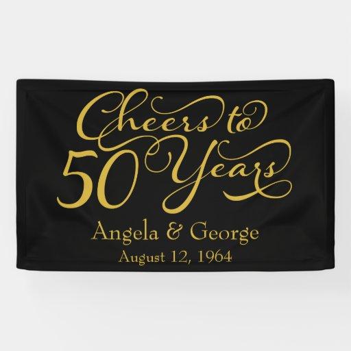 Marriage anniversary banner design : Personalized th golden wedding anniversary banner zazzle
