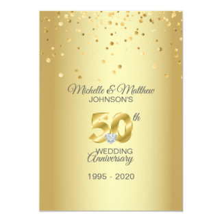 Personalized 50th Golden Wedding Anniversary Invitation