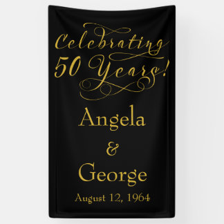 Personalized 50th Wedding Anniversary Banner
