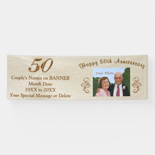 personalized 50th wedding anniversary banners zazzle com