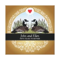 Personalized 50th Wedding Anniversary, Geese Canvas Print