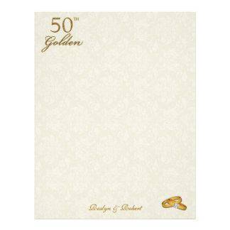 Personalized 50th Wedding Anniversary Letterhead