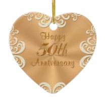Personalized 50th Wedding Anniversary Ornament