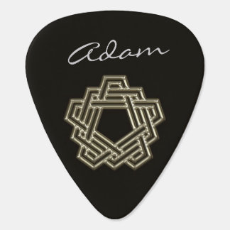 Personalized 5 Sided Celtic Knot Guitar Pick