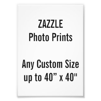 "Personalized 5"" x 7"" Photo Print, or custom size"