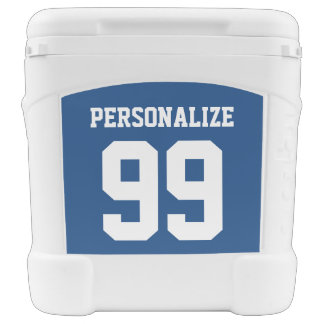 Personalized 60 quart roller cooler with wheels