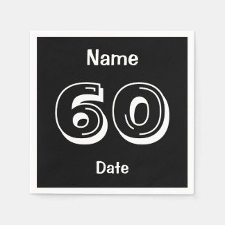 Personalized 60 year old Party 60th Birthday Napkin
