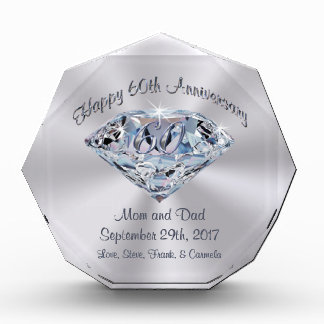 Personalized 60th Anniversary Gifts for Parents