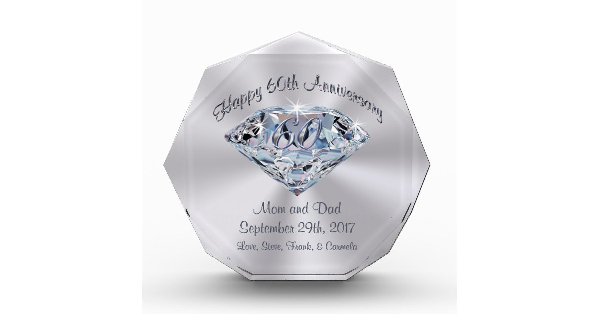 Gift Ideas For 60th Wedding Anniversary For Parents: Personalized 60th Anniversary Gifts For Parents