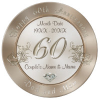 Personalized 60th Anniversary Gifts for Parents Dinner Plate