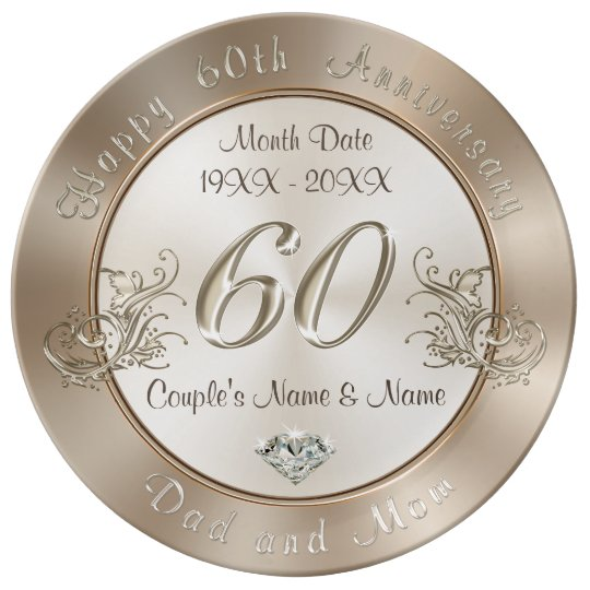 60th Wedding Anniversary Ideas: Personalized 60th Anniversary Gifts For Parents Dinner