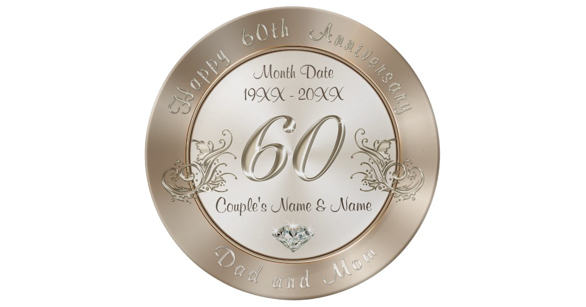 Ideas For 60th Wedding Anniversary Gifts For Parents: Personalized 60th Anniversary Gifts For Parents Dinner