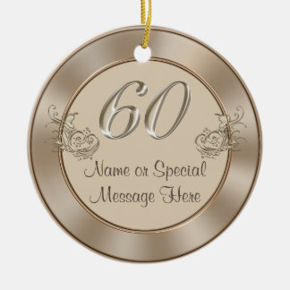 Personalized 60th Anniversary or Birthday Ornament