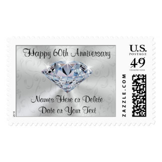 Personalized 60th Anniversary Postage Stamps