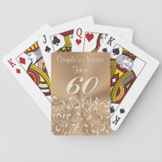 Personalized 60th Anniversary Presents or Favors Playing Cards