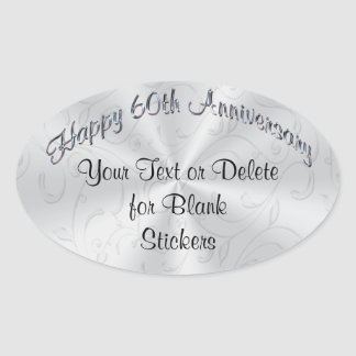 Personalized 60th Anniversary Stickers YOUR TEXT