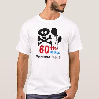 Personalized 60th Birthday Skull Crossbones T-Shirt