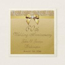 Personalized 60th Diamond Wedding Anniversary Napkin