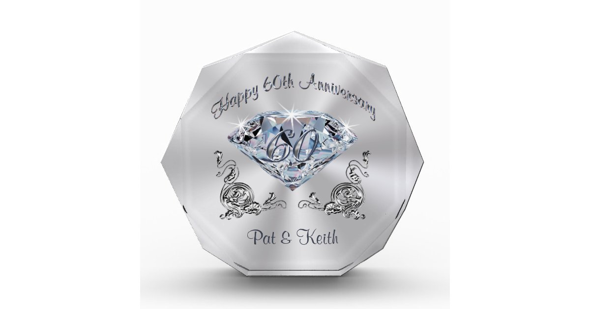 6 Wedding Anniversary Gift: Personalized 60th Wedding Anniversary Gift Ideas