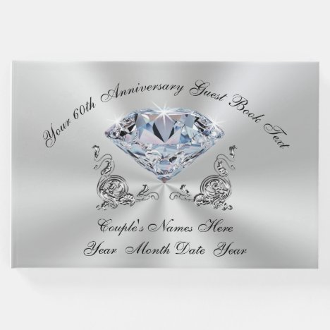 Personalized 60th Wedding Anniversary Guest Book