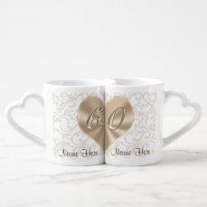Personalized 60th Wedding Anniversary Lovers Mugs