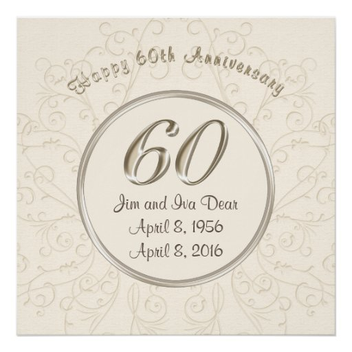 Personalized th wedding anniversary posters zazzle
