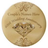 Personalized 65th Anniversary Favors, Cookies