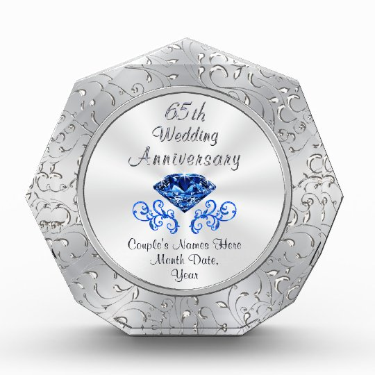 Gifts For 65th Wedding Anniversary: Personalized 65th Wedding Anniversary Gift Ideas