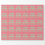 [ Thumbnail: Personalized 66th Birthday Wrapping Paper ]