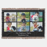 Personalized 6 Custom Photo Mosaic Picture Collage Throw