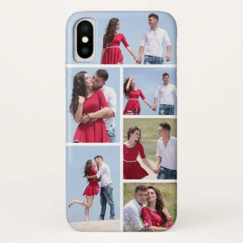 Personalized 6 Photo Collage iPhone X Case