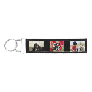 Personalized 6 Photo Collage Keychain Wristband