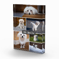 Personalized 6 Photo Collage Text Photo Block