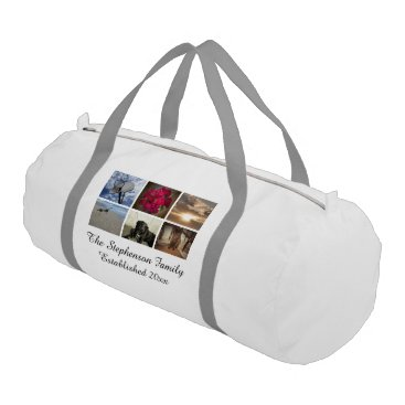 Personalized 6 Photo Mosaic Picture Collage Duffle Bag