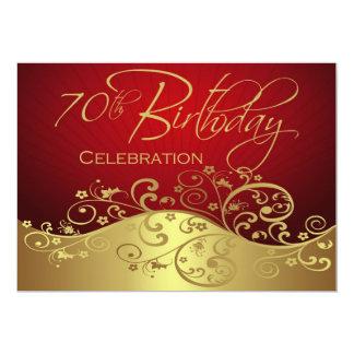 "Personalized 70th Birthday Party Invitations 5"" X 7"" Invitation Card"