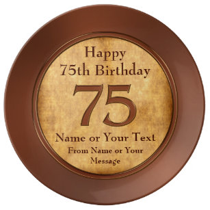 Personalized 75th Birthday Gift Ideas For A Man Dinner Plate
