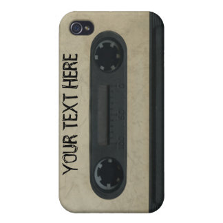 Personalized 80 s Cassette Tape iPhone4 4s skin Cover For iPhone 4