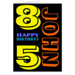 Personalized 85th Birthday Greeting Card