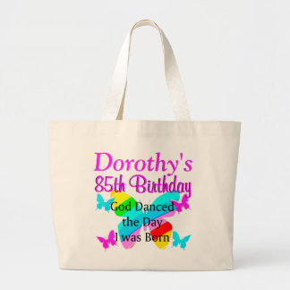 PERSONALIZED 85TH BUTTERFLY RAINBOW TOTE BAG