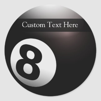 Personalized 8 Ball Billiards Classic Round Sticker