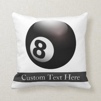 Personalized 8 Ball Billiards Pillow