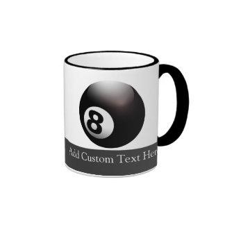 Personalized 8 Ball Billiards Ringer Coffee Mug