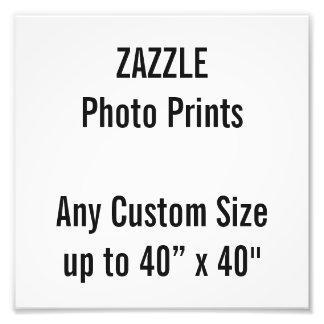 "Personalized 8"" x 8"" Photo Print - any custom size"