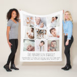 Personalized 9-photo family blanket