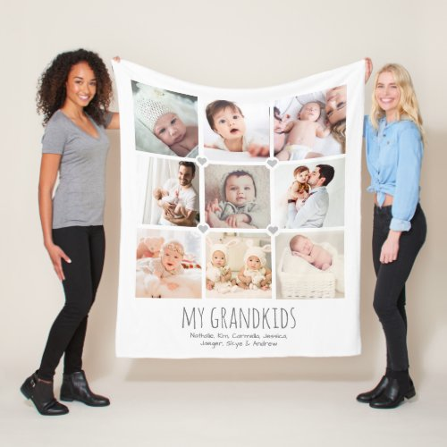 Personalized 9_photo grandparents blanket