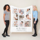 """Personalized 9-photo """"we are family"""" blanket"""