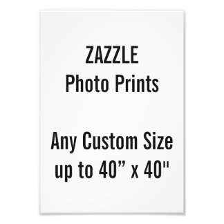 Personalized A4 Photo Print, or custom size